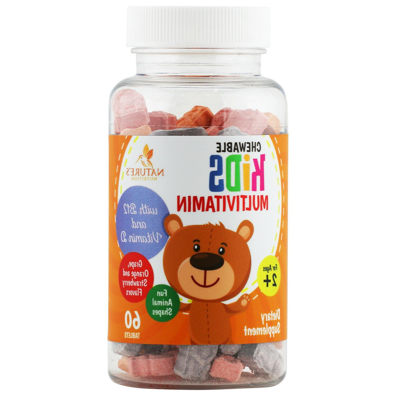 kids multivitamin extra strength 1100mg daily childrens