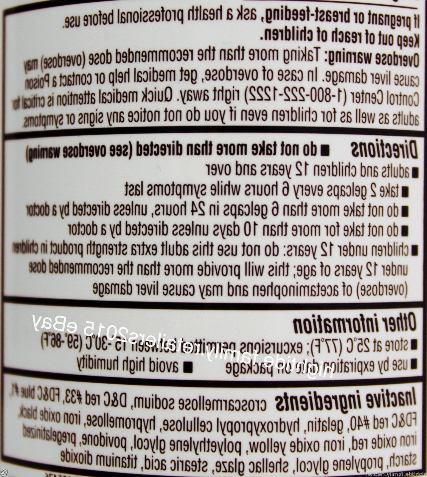 Kirkland Extra Strength Release Acetaminophen 500mg, Gelcaps