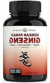 NutraChamps Korean Red Panax Ginseng 1000mg - 120 Vegan Caps