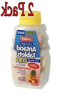 Leader Antacid Calcium Extra Strength Chewable Tablets Tropi