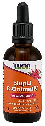 NOW Foods Liquid Vitamin D-3 5000Iu/Dropper, 2 ounce