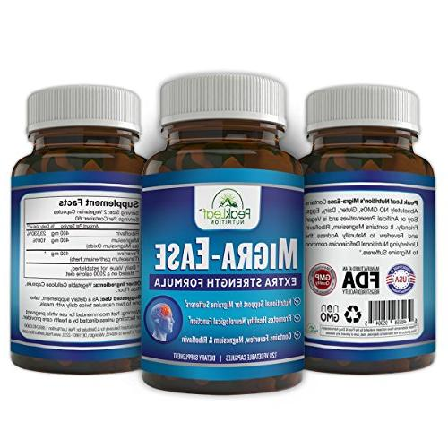 MIGRA-Ease - Headache Migraine Vegetarian – Strength Free, Lactose