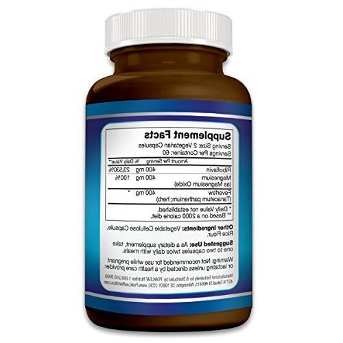 MIGRA-Ease - & Migraine Relief 120 Vegetarian – Strength – Gluten Free,