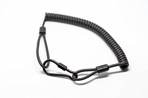 Military-Grade Coiled Kevlar Lanyard with Clip Resistant, 265lb Break Strength, Resistance   Heavy-Duty   Keys Flashlight