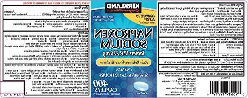 Naproxen Sodium by Kirkland Signature - 400 caplets 220 mg N