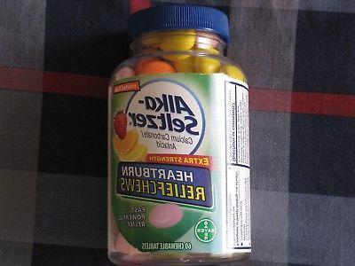 new unopened alka seltzer heartburn relief chews