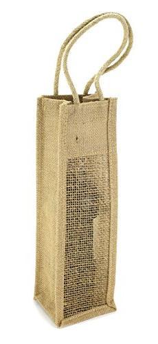 Kel-Toy NJBW14-12 Burlap Jute Single Wine Gift Bag, 1 Bottle
