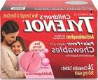 TYLENOL Children's Pain + Fever Chewables Tablets, Bubbleg