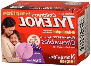 TYLENOL Children's Pain + Fever Chewables Tablets 160 mg, Gr