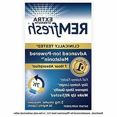 remfresh extra strength 5mg melatonin advanced sleep