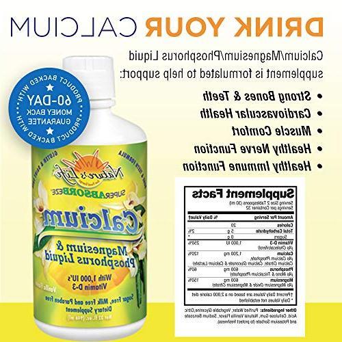 Nature's Calcium Phosphorus Supplement Vitamin Super Vanilla Strength & Cardiovascular | 32oz