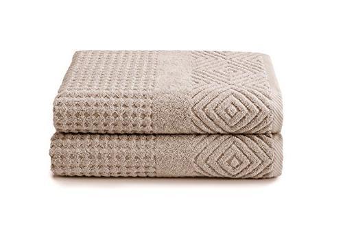 texere organic cotton jacquard bath