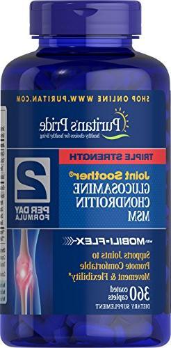 Puritans Pride Triple Strength Glucosamine, Chondroitin & Ms