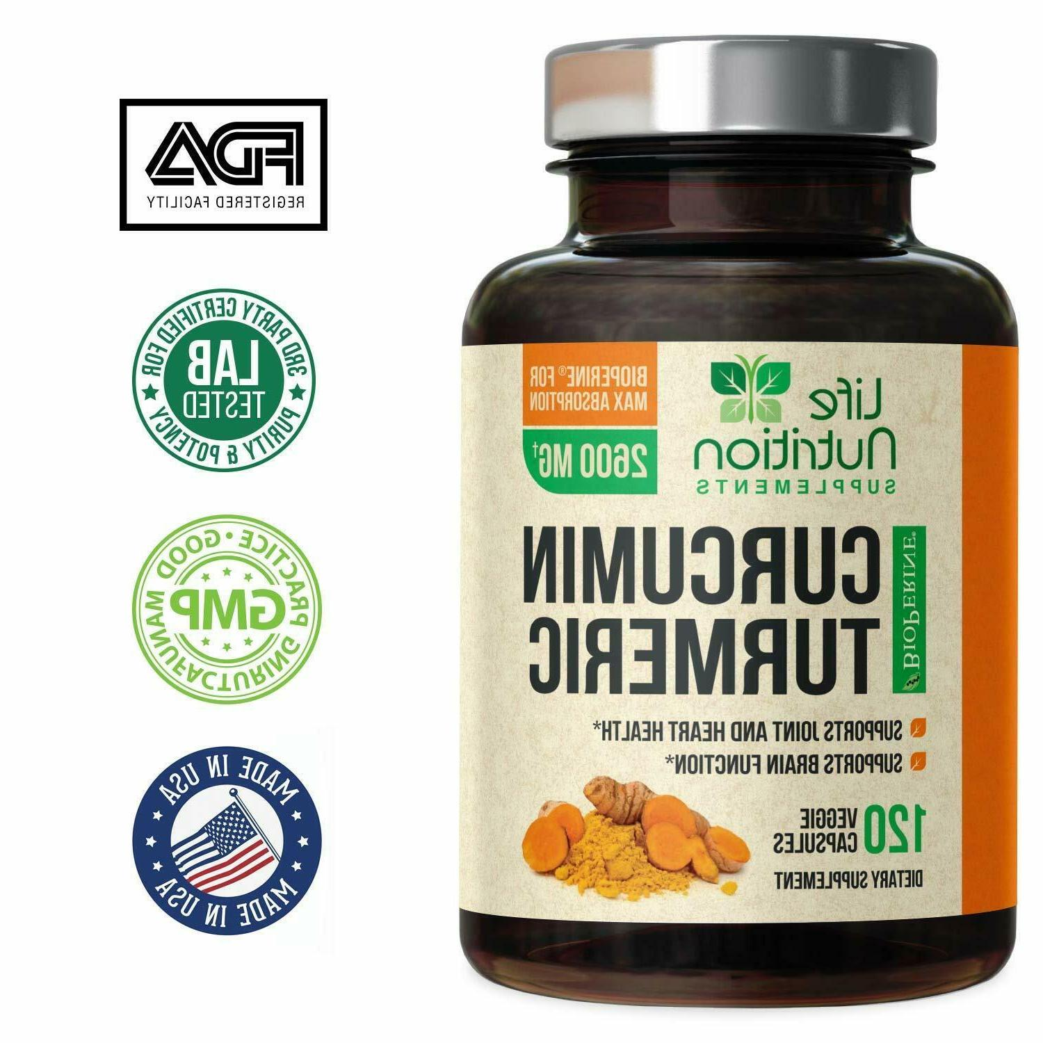 Turmeric 95% 2600mg with Black Pepper