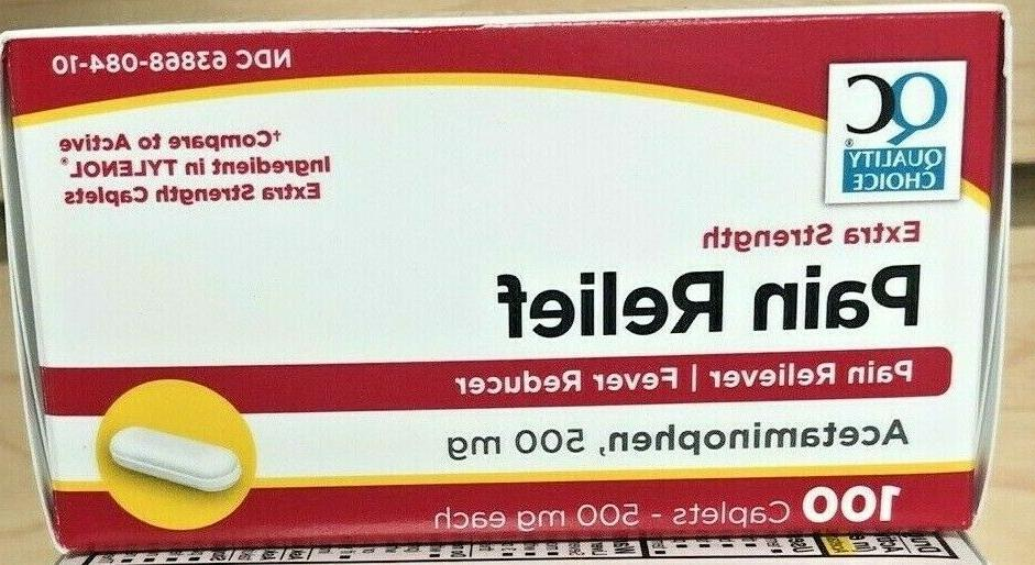 TYLENOL EXTRA-STRENGTH Gen 500 100ct