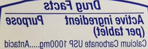 TUMS Strength 1000 Fruit Chewable Tablets, 160 count
