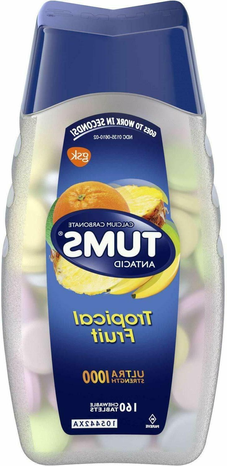 TUMS Ultra Strength Assorted Tropical Fruit Antacid Chewable