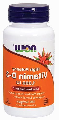 NOW Vitamin D-3 1,000 IU,180 Softgels