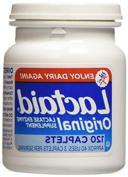 Lactaid Original Strength Lactase Enzyme Supplement, Caplets