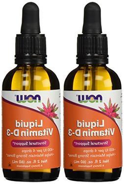 NOW Foods Liquid Vitamin D-3 400Iu/4 Dropper, 2 ounce