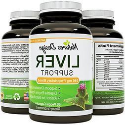 Natures Design Liver Support Supplement with Milk Thistle Ex