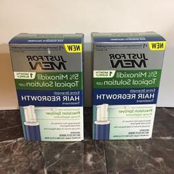 LOT Of 2 Just for Men 5%Minoxidil Extra Strength Hair Treatm