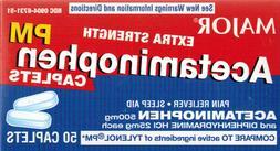 major extra strength acetaminophen pm caplets 50