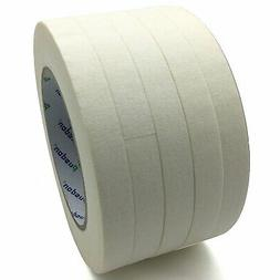 Pusdon Masking Tape, White, Pack of 5, Each 1/2-Inch x 60 Ya