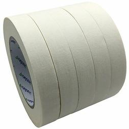 Pusdon Masking Tape, White, Pack of 5, Each 3/4-Inch x 60 Ya