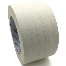 Pusdon Masking Tape, White, Pack of 5, Each 1/2-Inch x 60 Ya