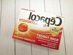 Cepacol Maximum Strength Throat Drop Lozenges, Honey Lemon,