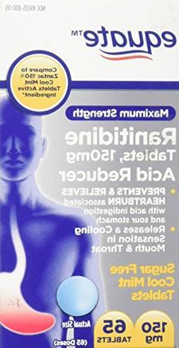 Equate Maximum Strength Acid Reducer Cool Mint Tablets 150mg