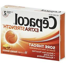 Cepacol Maximum Strength Throat Drop Lozenges, Honey Lemon,