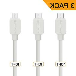 Micro USB Cable, SMALLElectric  Android USB to Extra Long Fa
