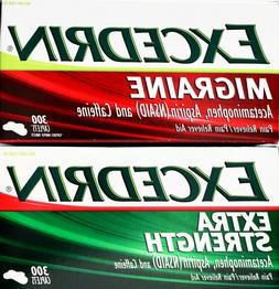 Excedrin Migraine or Extra Strength Acetaminophen, 300 Caple