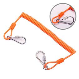 Military-Grade Coiled Kevlar Lanyard for Scaffold, working a