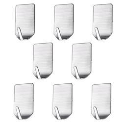 Sumnacon Powerful Adhesive Hooks, 8 Pcs Heavy Duty Stainless