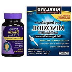 Kirkland Minoxidil 5% Extra Strength Hair Regrowth for Men,