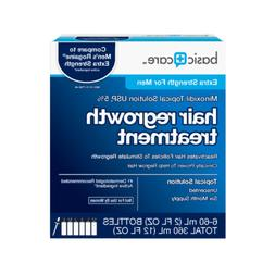 Basic Care Minoxidil Topical Solution USP, 5% Hair Regrowth