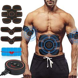 ROKOO Muscle Trainer, 3 in 1 USB Rechargeable Abdominal Toni