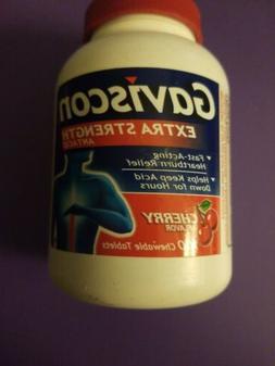 New Gaviscon Extra Strength Chewable Antacid Tablets Cherry