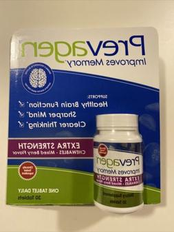 NEW Prevagen Extra Strength Chewables Mixed Berry Flavor 30