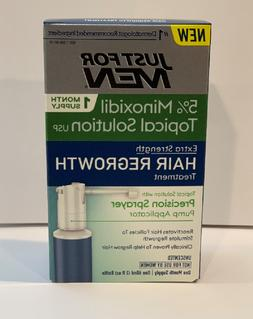 NEW Just for Men Extra Strength Hair Regrowth Treatment 5% M