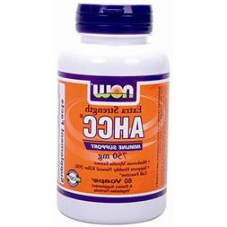 NOW Extra Strength Ahcc Mushroom Mycelia Extract 750mg 60 Vc