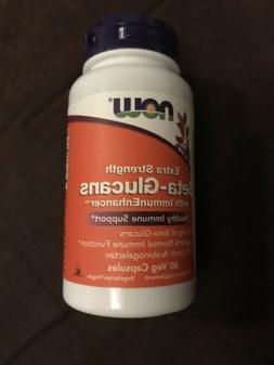 Now Extra Strength Beta-Glucans 60 Veg Capsules Best By - 07