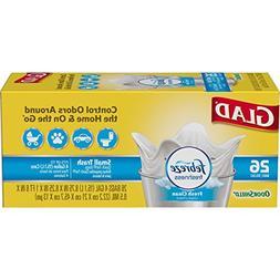 Glad OdorShield Small Trash Bags - Febreze Fresh Clean - 4 G