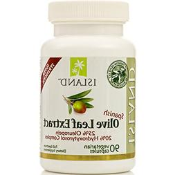 Olive Leaf Extract - 25% Oleuropein, 90 Veggie Caps, 500mg e