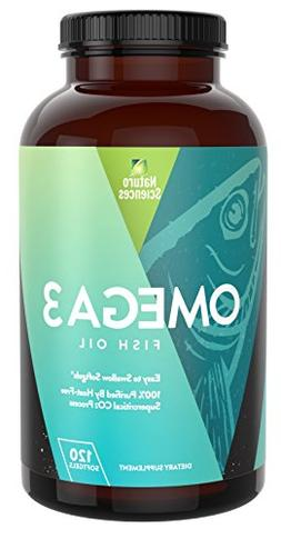 Omega 3 Essential Fatty Acid Fish Oil Supplement By Naturo S