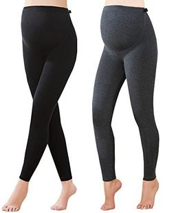 Foucome 2 Pack Women's Over The Belly Super Soft Support Win