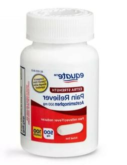 Equate Pain Reliever Extra Strength Acetaminophen 500mg 100